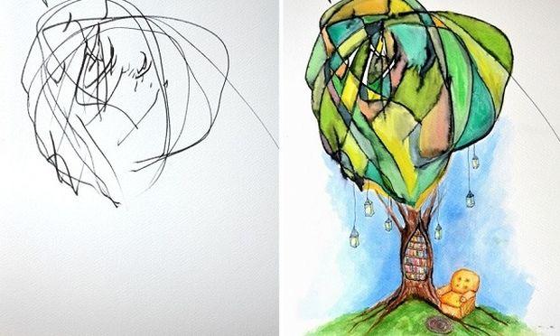 Απίστευτο! Αυτή η μαμά μετατρέπει τις ζωγραφιές της δίχρονης κόρης της σε αριστουργήματα! (εικόνες)