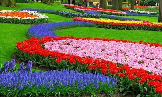 Ένας κήπος, καλύτερος κι από ουράνιο τόξο! Αποτελείται από 7 εκατομμύρια λουλούδια!