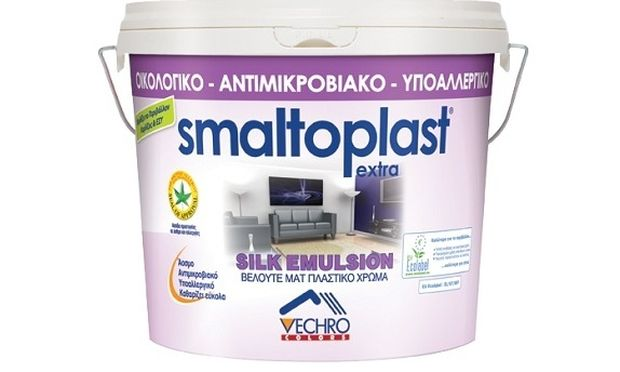 Smaltoplast Silk: Οικολογικό, υποαλλεργικό, αντιμικροβιακό πλαστικό χρώμα βαφής. Ασπίδα προστασίας για άσθμα και αλλεργίες σε χιλιάδες αποχρώσεις!