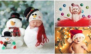 17 μοναδικές φωτογραφίες με μωράκια που ποζάρουν για πρώτη φορά ενόψει Χριστουγέννων!