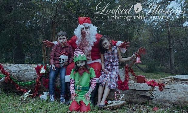 Η φωτογράφος των παιδιών... «ζόμπι» ξαναχτυπά με νέες χριστουγεννιάτικες φωτογραφίες!