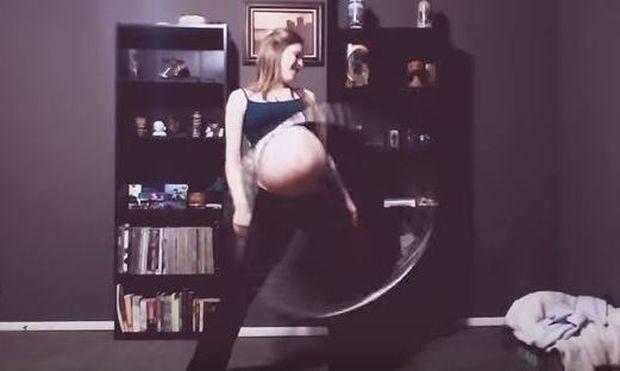Απίστευτο βίντεο και όμως αληθινό: Εγκυμονούσα κάνει χούλα χουπ με την φουσκωμένη κοιλίτσα της