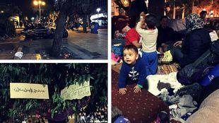 Νύχτα με τους πρόσφυγες στην πλατεία Βικτωρίας