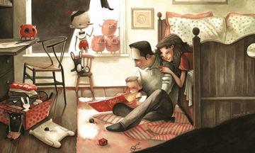 Τι είναι αυτό που κάνει ευτυχισμένη μια οικογένεια; Η απάντηση μέσα από 15 τρυφερά σκίτσα