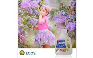 ΝΕΟ ECOS Baby! Υποαλλεργικό υγρό απορρυπαντικό με άρωμα Πασχαλιάς και Καριτέ!