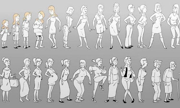 Οι αλλαγές του γυναικείου σώματος σε ένα απολαυστικό animation (βίντεο)