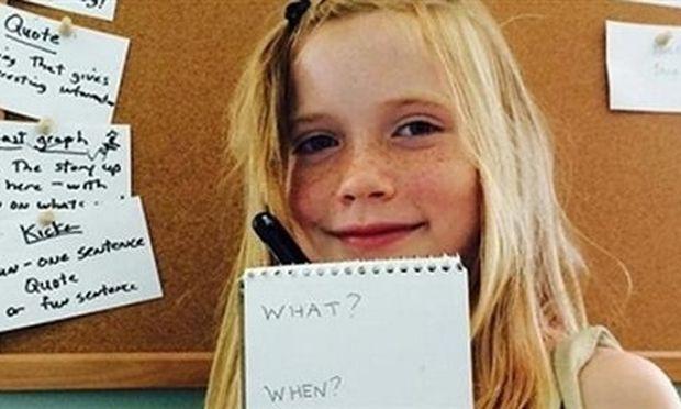 9χρονη...δημοσιογράφος αποκαλύπτει δολοφονία στη γειτονιά της! (βίντεο)