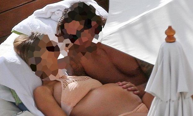 Γνωστή ηθοποιός απολαμβάνει τον ήλιο μαζί με τον σύντροφό της λίγο πριν γεννήσει (φωτό)