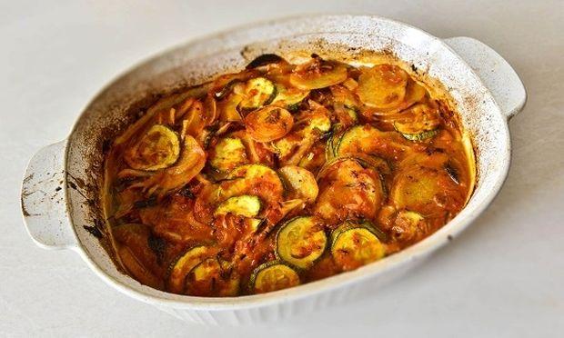 Μπριάμ φούρνου με ντοματίνια, από τον Γιώργο Γεράρδο