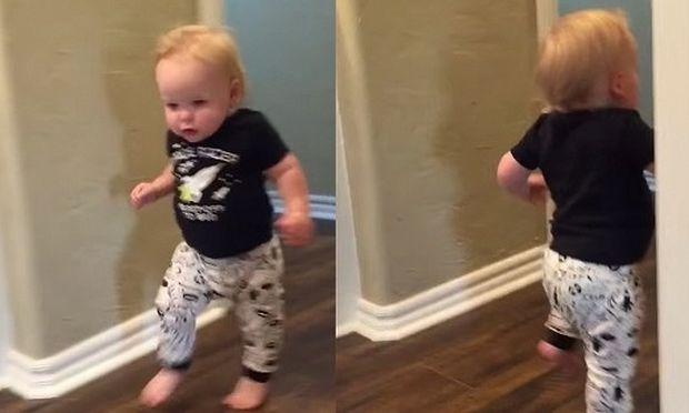 Δείτε την αντίδραση του πιτσιρικά όταν τον τρομάζει ο παππούς του (βίντεο)