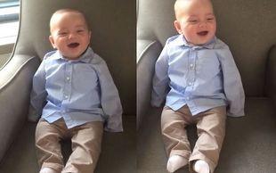 Δημοσίευσε βίντεο με τον 4 μηνών γιο της να ξεκαρδίζεται στα γέλια