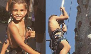 Ο γιος Ελληνίδας παρουσιάστριας κάνει αναρρίχηση