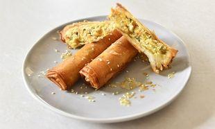 Μπουρεκάκια με λουκάνικο, λαχανικά και τυρί κρέμα από τον Γιώργο Γεράρδο