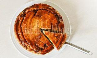 Ανάποδο κέικ μπανάνας με καραμέλα από τον Γιώργο Γεράρδο