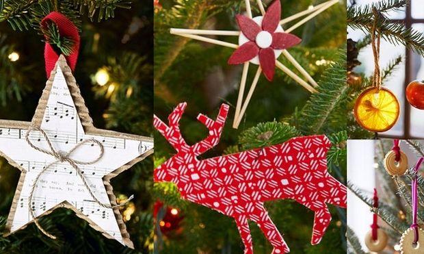 10 πρωτότυπα χειροποίητα στολίδια για το χριστουγεννιάτικο δέντρο σας