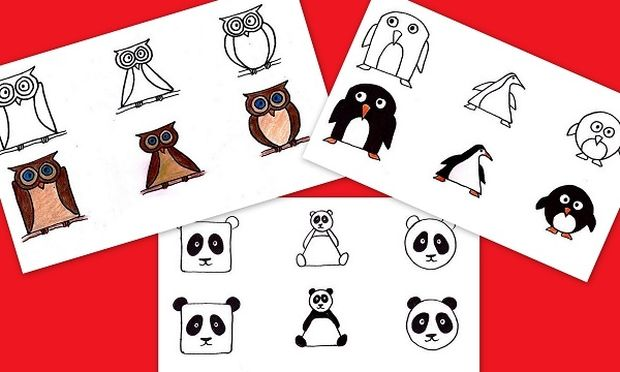 Διδάξτε στα παιδιά σας να ζωγραφίζουν 10 αγαπημένα τους ζωάκια μέσα από τα σχήματα που γνωρίζουν
