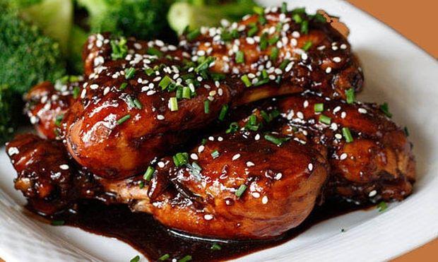 Μπουτάκια κοτόπουλο με μέλι και σουσάμι, με ρύζι μπασμάτι!