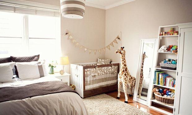 Decο: Βρεφικό δωμάτιο και κρεβατοκάμαρα μαζί!