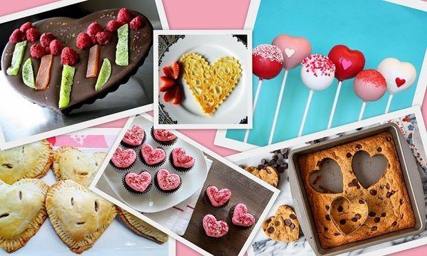 10 γλυκάκια σε σχήμα καρδιάς που μπορείτε να φτιάξετε με τα παιδιά σας
