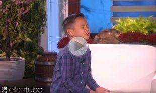 Αυτός είναι ο πιτσιρικάς που ξετρέλανε την Ellen. Το βίντεο έχει πάνω από 23.083.403 προβολές