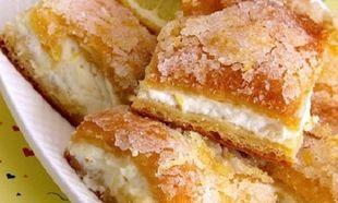 Τραγανές μπάρες λεμονιού- Εύκολες και γευστικές
