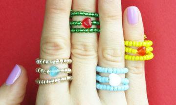 DIY: Πανεύκολα, μοντέρνα και χαριτωμένα δαχτυλίδια για μαμάδες και κόρες (vid)