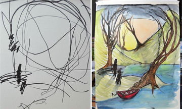 Μαμά μετατρέπει σε υπέροχες ζωγραφιές τις μουντζούρες της 3 ετών κόρης της