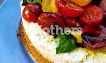 Πιο καλοκαιρινό δεν γίνεται: Αλμυρό cheesecake με φέτα, ανθότυρο και ντοματίνια