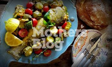 Λαβράκι με κολοκυθάκια μουσταρδολεμονάτα (vid)