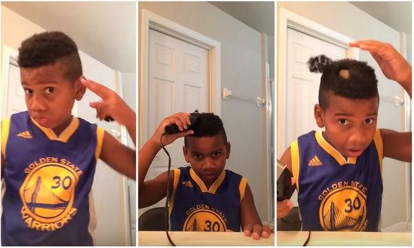 Αυτό το αγόρι προσπάθησε να κόψει μόνο του τα μαλλιά, αλλά τα πράγματα δεν πήγαν όπως ήθελε (vid)