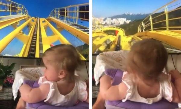 Αυτό το μωρό δεν εντυπωσιάστηκε καθόλου από την έμπνευση του μπαμπά του (vid)