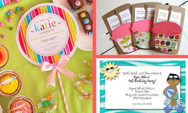 Παιδικό πάρτι: Ιδέες για προσκλήσεις