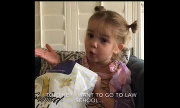 Η Mila «ξαναχτυπά» - Δεν θέλει να πάει παιδικό, αλλά στη Νομική
