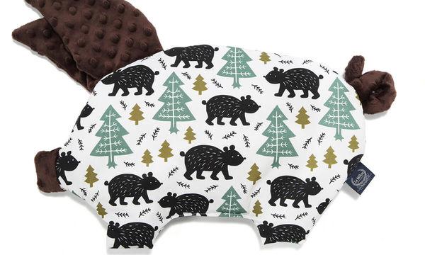 Sleepy Pig Alaska Bleepy Baribal Chocolate - Πρωτότυπο βαμβακερό μαξιλαράκι για το μωρό σας