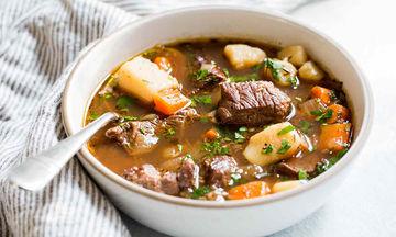 Μοσχαράκι σούπα με πατάτα και λαχανικά