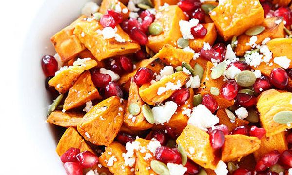Σαλάτα με γλυκοπατάτα, ρόδι και φέτα - Πρωτότυπη και πολύ γευστική