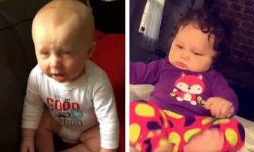 Πώς αντιδρούν τα μωρά στο φτέρνισμά τους; Δείτε το απολαυστικό βίντεο