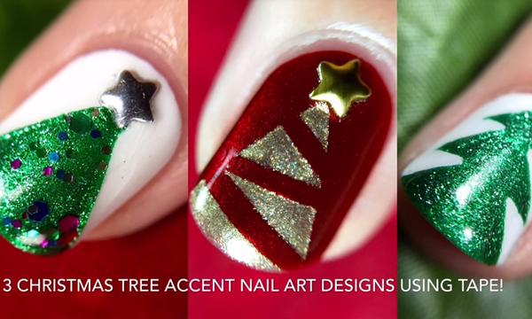 Χριστουγεννιάτικο μανικιούρ: Δείτε πόσο εύκολα μπορείτε να σχεδιάσετε χριστουγεννιάτικα δέντρα (vds)