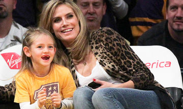 Αυτή είναι η κούκλα κόρη της Heidi Klum! Η κάμερα τις τσάκωσε για πρώτη φορά μαζί
