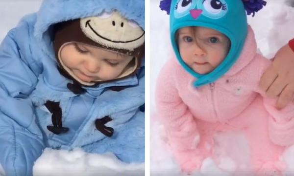 Μωρά βλέπουν χιόνι για πρώτη φορά - Δείτε τις αντιδράσεις τους
