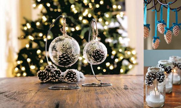 Δείτε 50 κατασκευές με κουκουνάρια που μπορείτε να φτιάξετε αυτά τα Χριστούγεννα