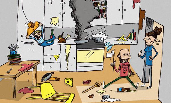 Μπαμπάς στο σπίτι: Η καθημερινότητα με τα παιδιά μέσα από δέκα φανταστικά σκίτσα