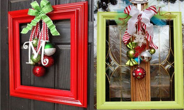 Χριστουγεννιάτικη διακόσμηση με κορνίζες – 31 ξεχωριστές προτάσεις