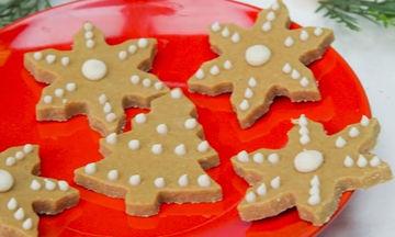 Συνταγή για χριστουγεννιάτικα άψητα μπισκότα χωρίς γλουτένη