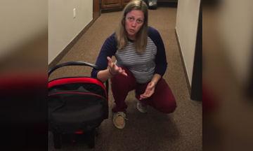 Αυτός είναι ο καλύτερος τρόπος να μεταφέρετε το κάθισμα με το μωρό (βίντεο)