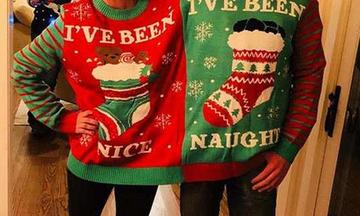 Οι διάσημοι το παράκαναν: Φορούν τα χειρότερα χριστουγεννιάτικα φούτερ που έχουμε δει ποτέ (pics)