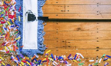 Επιχείρηση «καθάρισμα σπιτιού μετά από ρεβεγιόν». Δεν θέλει άγχος, θέλει τρόπο