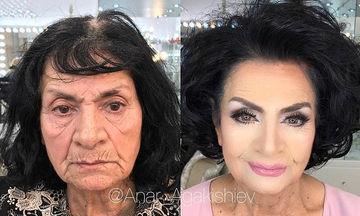 Μake up artist μεταμορφώνει τις γυναίκες με το μακιγιάζ  (pics)
