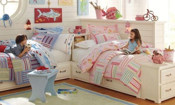 Κοινό δωμάτιο για κορίτσι και αγόρι: Τριάντα ιδέες για να το διακοσμήσετε