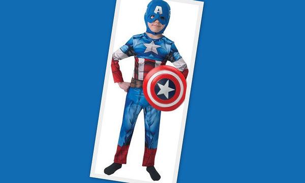 Αποκριάτικη στολή για αγόρια: Captain America